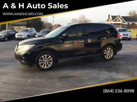 2014 Nissan Pathfinder for sale at A & H Auto Sales in Greenville SC