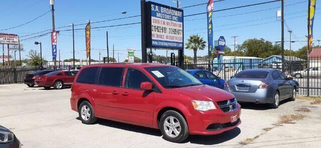 2012 Dodge Grand Caravan for sale at S.A. BROADWAY MOTORS INC in San Antonio TX