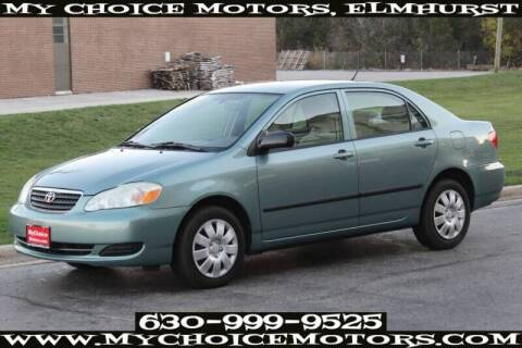 2005 Toyota Corolla for sale at My Choice Motors Elmhurst in Elmhurst IL