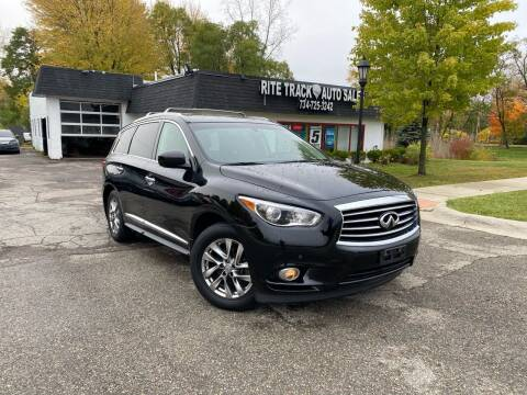 2013 Infiniti JX35 for sale at Rite Track Auto Sales in Canton MI