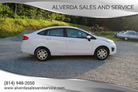 2011 Ford Fiesta for sale at Alverda Sales and Service in Alverda PA