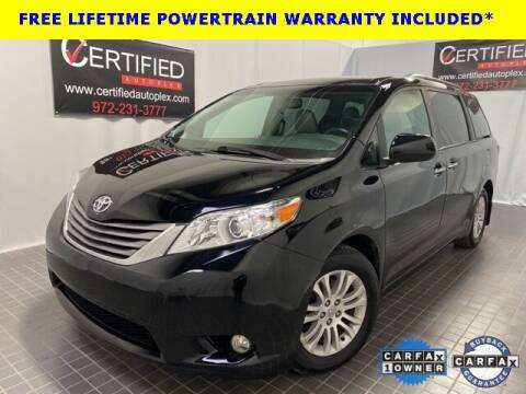 2017 Toyota Sienna for sale at CERTIFIED AUTOPLEX INC in Dallas TX