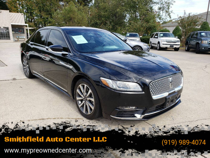 2017 Lincoln Continental for sale at Smithfield Auto Center LLC in Smithfield NC