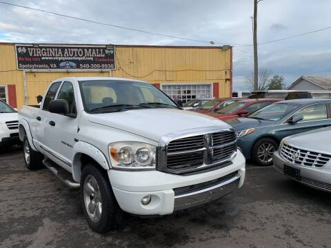 2007 Dodge Ram Pickup 1500 for sale at Virginia Auto Mall in Woodford VA