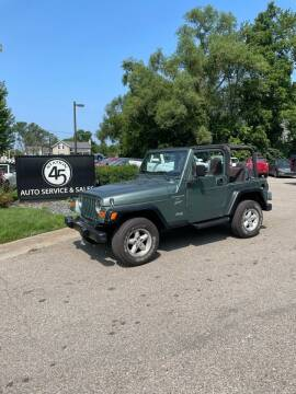 2000 Jeep Wrangler for sale at Station 45 Auto Sales Inc in Allendale MI