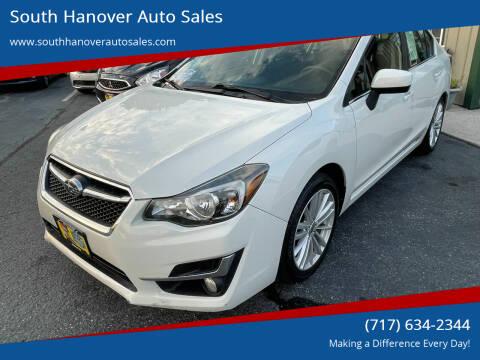 2015 Subaru Impreza for sale at South Hanover Auto Sales in Hanover PA