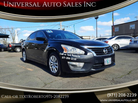 2014 Nissan Altima for sale at Universal Auto Sales Inc in Salem OR