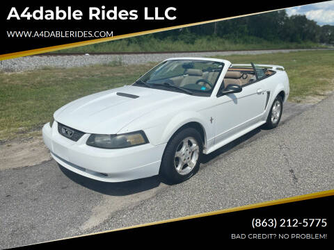 2002 Ford Mustang for sale at A4dable Rides LLC in Haines City FL