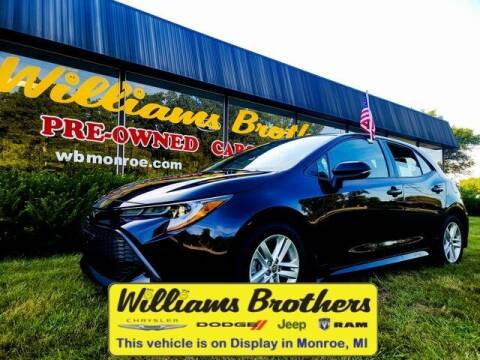 2019 Toyota Corolla Hatchback for sale at Williams Brothers - Pre-Owned Monroe in Monroe MI