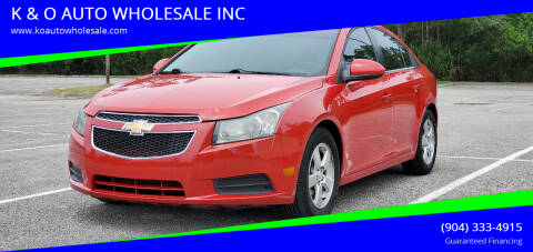 2014 Chevrolet Cruze for sale at K & O AUTO WHOLESALE INC in Jacksonville FL