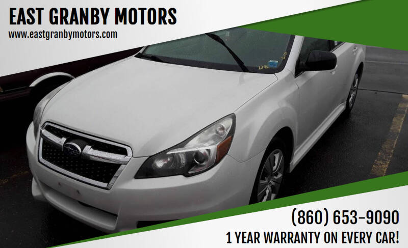 2013 Subaru Legacy for sale at EAST GRANBY MOTORS in East Granby CT