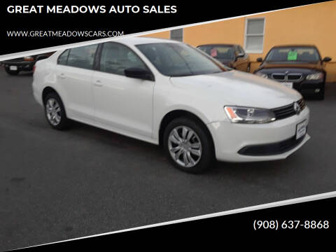 2013 Volkswagen Jetta for sale at GREAT MEADOWS AUTO SALES in Great Meadows NJ