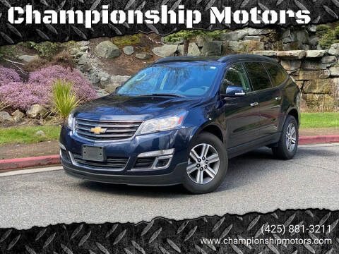 2016 Chevrolet Traverse for sale at Championship Motors in Redmond WA