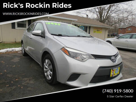 2014 Toyota Corolla for sale at Rick's Rockin Rides in Reynoldsburg OH