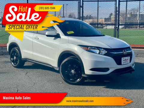 2016 Honda HR-V for sale at Maxima Auto Sales in Malden MA