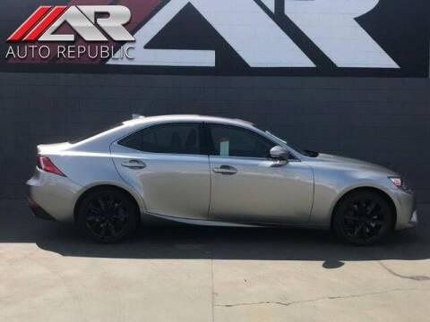 2016 Lexus IS 200t for sale at Auto Republic Fullerton in Fullerton CA