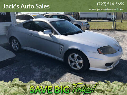 2005 Hyundai Tiburon for sale at Jack's Auto Sales in Port Richey FL