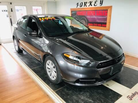 2014 Dodge Dart for sale at Forkey Auto & Trailer Sales in La Fargeville NY