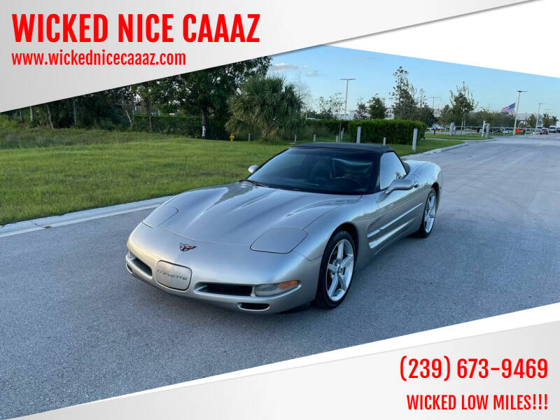 2000 Chevrolet Corvette for sale at WICKED NICE CAAAZ in Cape Coral FL