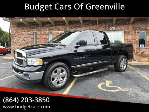 2005 Dodge Ram Pickup 1500 for sale at Budget Cars Of Greenville in Greenville SC