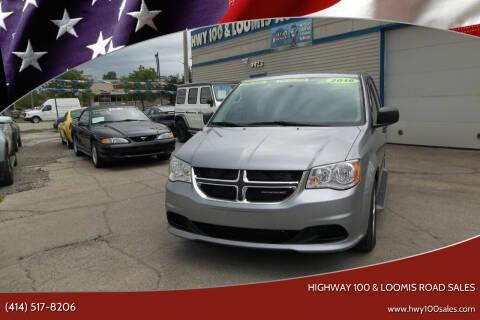 2016 Dodge Grand Caravan for sale at Highway 100 & Loomis Road Sales in Franklin WI
