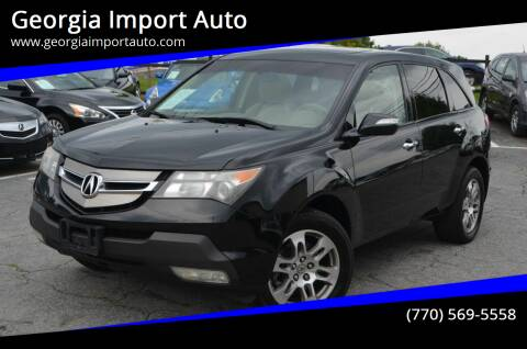 2007 Acura MDX for sale at Georgia Import Auto in Alpharetta GA
