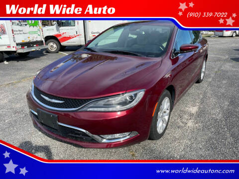 2015 Chrysler 200 for sale at World Wide Auto in Fayetteville NC