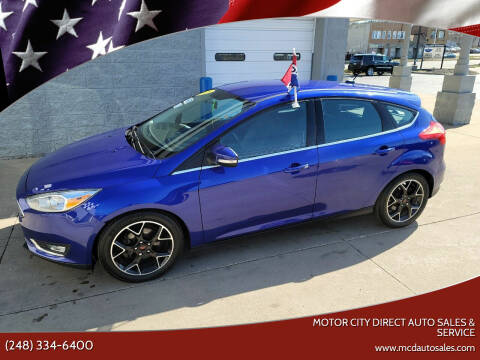 2015 Ford Focus for sale at Motor City Direct Auto Sales & Service in Pontiac MI