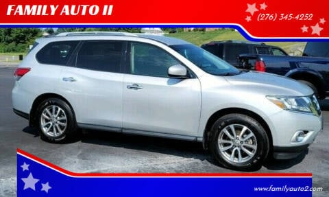 2015 Nissan Pathfinder for sale at FAMILY AUTO II in Pounding Mill VA