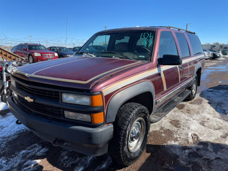 1997 Chevrolet Suburban for sale at PYRAMID MOTORS - Fountain Lot in Fountain CO