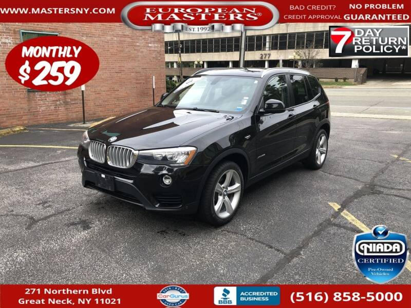 2017 BMW X3 for sale at European Masters in Great Neck NY