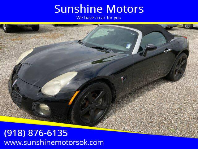 2008 Pontiac Solstice for sale at Sunshine Motors in Bartlesville OK