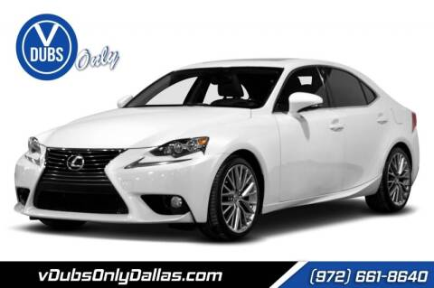 2014 Lexus IS 250 for sale at VDUBS ONLY in Dallas TX