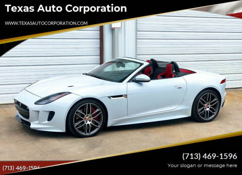2016 Jaguar F-TYPE for sale at Texas Auto Corporation in Houston TX