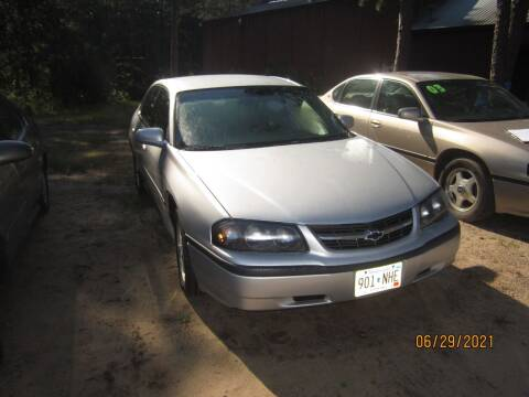 2004 Chevrolet Impala for sale at SUNNYBROOK USED CARS in Menahga MN