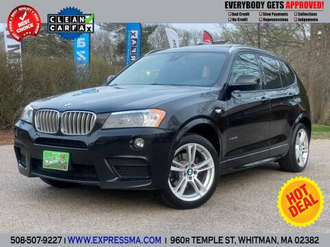 2013 BMW X3 for sale at Auto Sales Express in Whitman MA