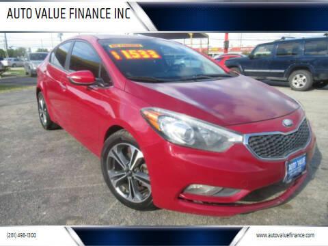 2014 Kia Forte for sale at AUTO VALUE FINANCE INC in Stafford TX