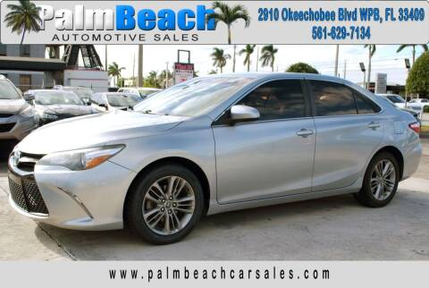 2015 Toyota Camry for sale at Palm Beach Automotive Sales in West Palm Beach FL
