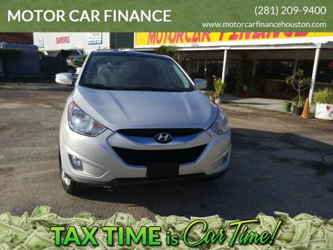 2010 Hyundai Tucson for sale at MOTOR CAR FINANCE in Houston TX