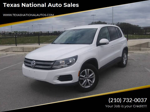 2012 Volkswagen Tiguan for sale at Texas National Auto Sales in San Antonio TX