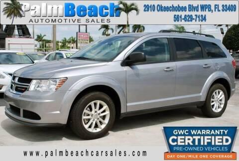 2018 Dodge Journey for sale at Palm Beach Automotive Sales in West Palm Beach FL