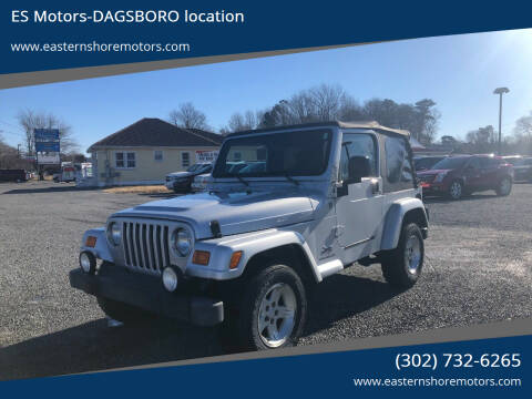 2005 Jeep Wrangler for sale at ES Motors-DAGSBORO location in Dagsboro DE
