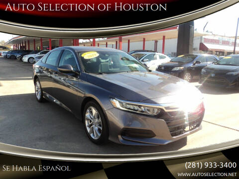 2019 Honda Accord for sale at Auto Selection of Houston in Houston TX