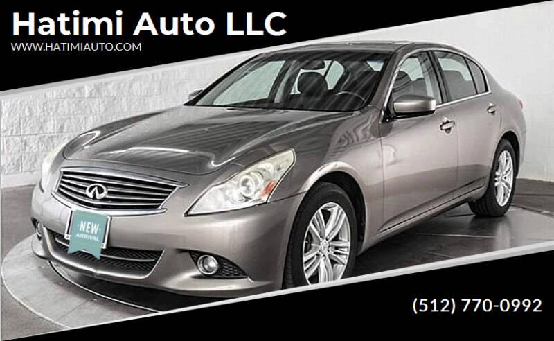 2011 Infiniti G37 Sedan for sale at Hatimi Auto LLC in Austin TX