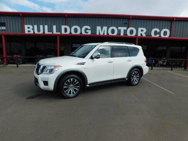 2019 Nissan Armada for sale at Bulldog Motor Company in Borger TX