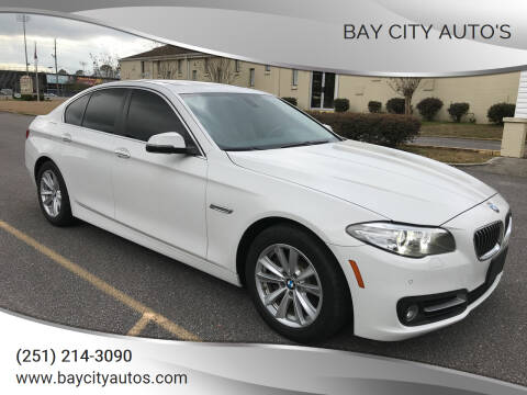 2015 BMW 5 Series for sale at Bay City Auto's in Mobile AL