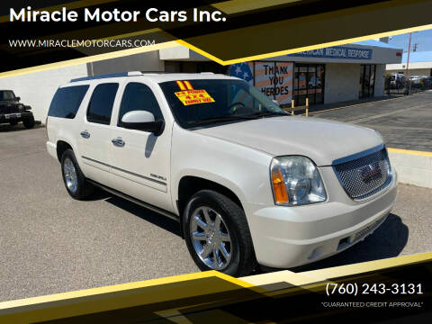 2011 GMC Yukon XL for sale at Miracle Motor Cars Inc. in Victorville CA
