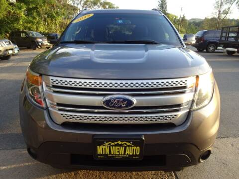 2013 Ford Explorer for sale at MOUNTAIN VIEW AUTO in Lyndonville VT