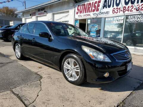2013 Infiniti G37 Sedan for sale at Sunrise Auto Outlet in Amityville NY