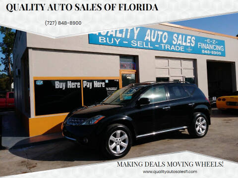 2006 Nissan Murano for sale at QUALITY AUTO SALES OF FLORIDA in New Port Richey FL